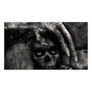 Tarjetas de visita adaptables de Halloween del crá