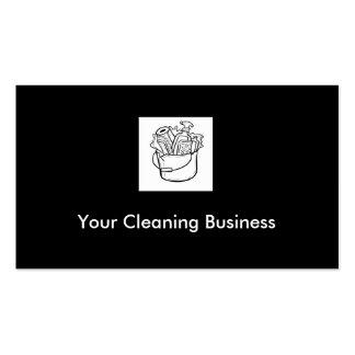 Tarjetas de visita adaptables de la limpieza están