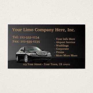 Tarjetas de visita ADAPTABLES de la limusina