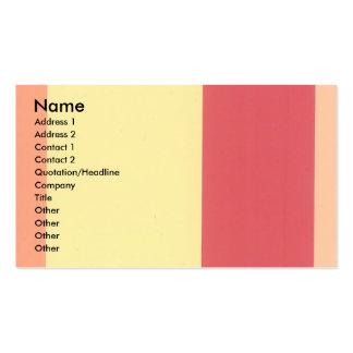 Tarjetas de visita anaranjadas del color bajo