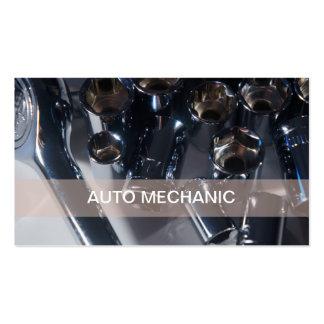 Tarjetas de visita automotrices del mecánico