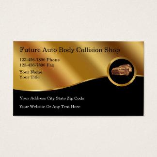 Tarjetas de visita autos de la colisión del cuerpo