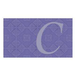 Tarjetas de visita azules del bígaro clásico con m
