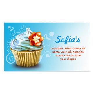 tarjetas de visita azules hermosas de la magdalena
