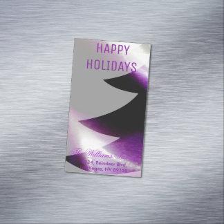 Tarjetas de visita blancas de plata púrpuras del