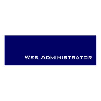 Tarjetas de visita blancas del administrador del