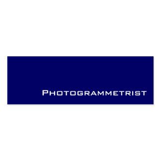Tarjetas de visita blancas del photogrammetrist de