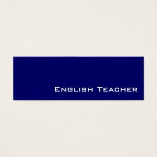 Tarjetas de visita blancas del profesor de inglés