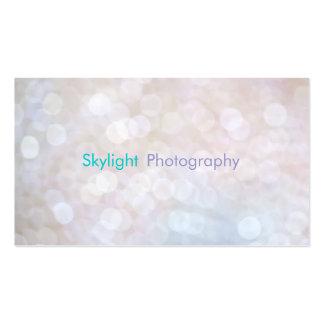Tarjetas de visita blancas y azules de la fotograf