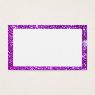 Tarjetas de visita brillantes del brillo púrpura