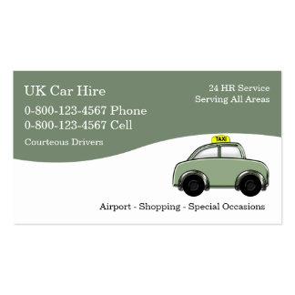 Tarjetas de visita BRITÁNICAS del taxi