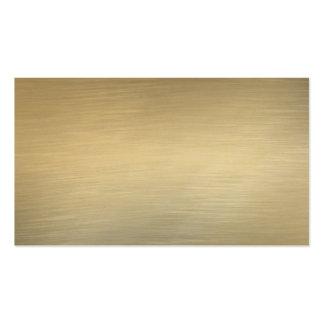 Tarjetas de visita cepilladas del oro