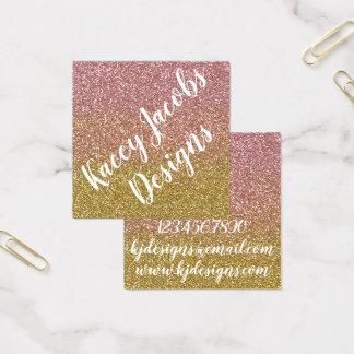 Tarjetas de visita color de rosa del diseño del