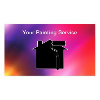 Tarjetas de visita coloridas del pintor