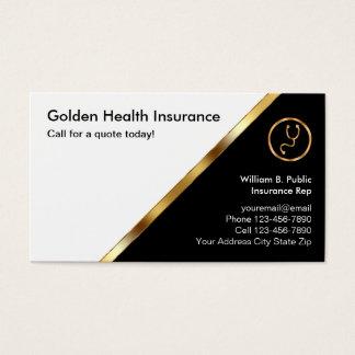 Tarjetas de visita con clase del seguro médico