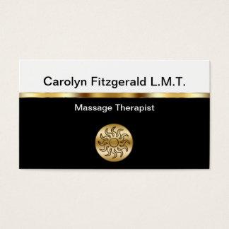 Tarjetas de visita con clase del terapeuta del