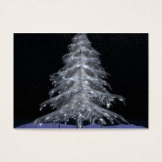 Tarjetas de visita cristalinas del árbol de