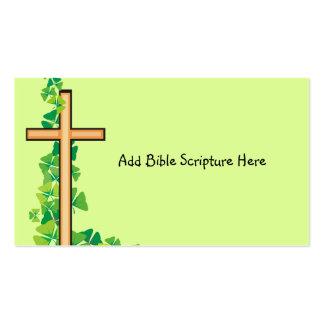 Tarjetas de visita cristianas de la cruz y de la v