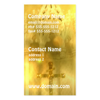 Tarjetas de visita cruzadas cristianas