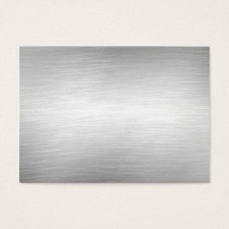 Tarjetas de visita de aluminio cepilladas del