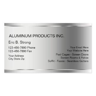 Tarjetas de visita de aluminio de construcción