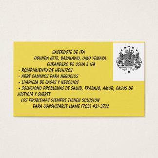 Tarjetas de visita de Babalawo