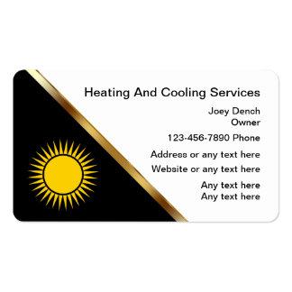 Tarjetas de visita de calefacción y de
