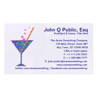 Tarjetas de visita de cristal de Martini del club