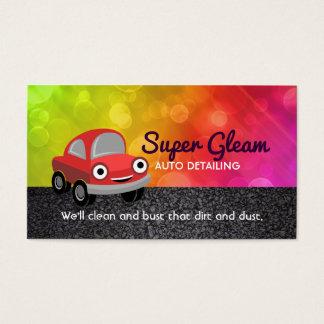 Tarjetas de visita de detalle autos