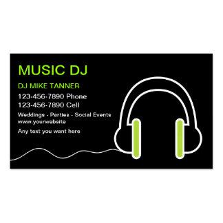 Tarjetas de visita de DJ de la música