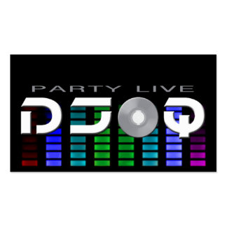 Tarjetas de visita de DJ Q
