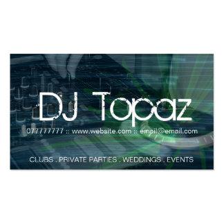 Tarjetas de visita de DJ
