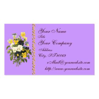 Tarjetas de visita de encargo de las violetas botá