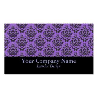 Tarjetas de visita de encargo del damasco púrpura
