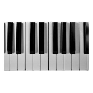 Tarjetas de visita de encargo del teclado de piano