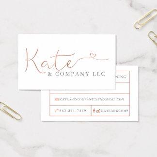 Tarjetas de visita de encargo: Kate & Company