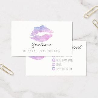 Tarjetas de visita de la acuarela de la lila