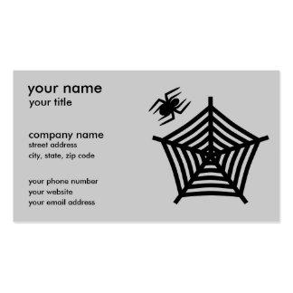 Tarjetas de visita de la araña y del Web