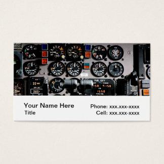 Tarjetas de visita de la aviación