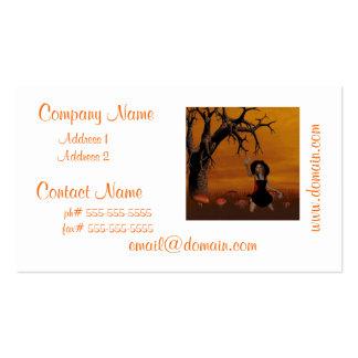 Tarjetas de visita de la bruja de Halloween