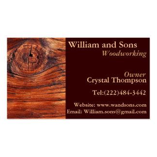 Tarjetas de visita de la carpintería de la carpint