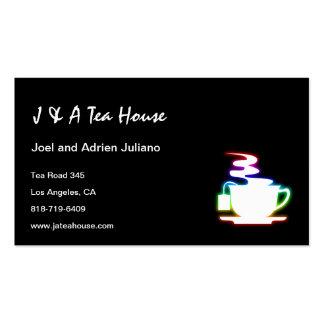 Tarjetas de visita de la casa de té