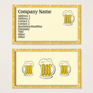 Tarjetas de visita de la cerveza