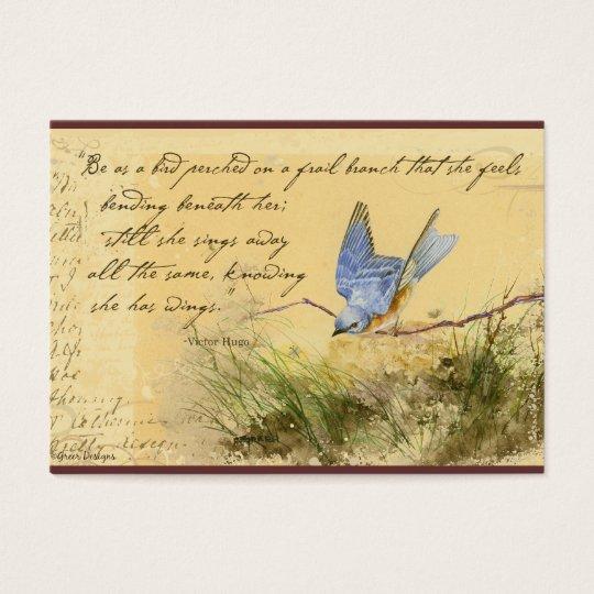 Tarjetas de visita de la cita de Victor Hugo del