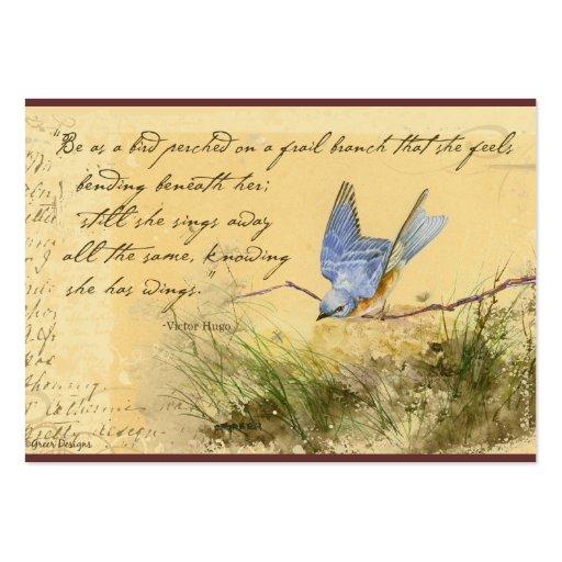 Tarjetas de visita de la cita de Victor Hugo del B