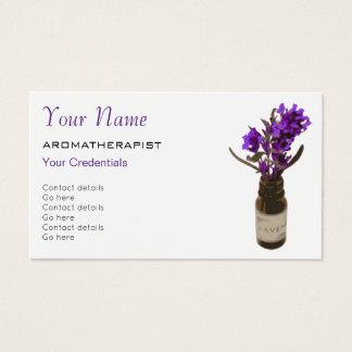 Tarjetas de visita de la cita del Aromatherapy