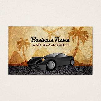 Tarjetas de visita de la concesión de coche