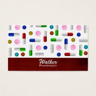 Tarjetas de visita de la farmacia - fondo