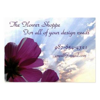 Tarjetas de visita de la flor