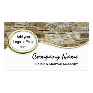 Tarjetas de visita de la foto del logotipo de la a